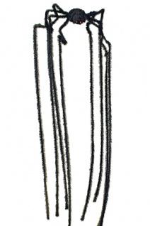 Riesen Spinne schwarz ca. 30 x 60 cm animiert Deko Halloween Horror