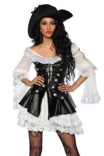 4 tlg Piratenkostüm Damen Komplett hochwertig Damen Gr. XS-34-176 - Vorschau 2