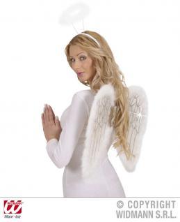 Engel Flügel, Glitter + Maraboufedern, Damen, Kinder 50x40cm