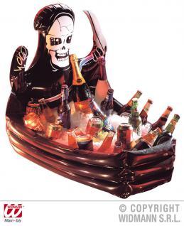 Aufblasbar Sarg Getränkehalter, Getränkekühler Halloween, Karneval Deko