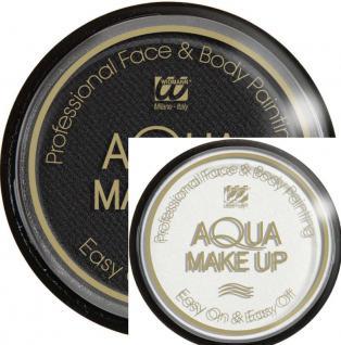 Wasser Aqua Make up, Schminke, Gesicht u. Körper 15 g ---weiss