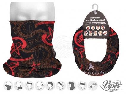 Multifunktionstuch Halstuch Schlauchschal Maske Mundschutz Kung fu