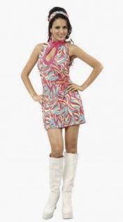 2tlg Minikleid bunt 60er Jahre Damen GoGo Show Kostüm Gr. 36