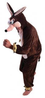 Kojote Wolf Tier Plüsch Kostüm Herren braun top Qualität