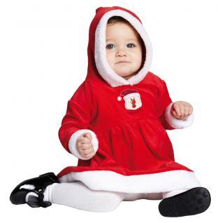 Plüsch Weihnachtskostüm hochwertig, Kinder Kleinkinder Mädchen 80 / 86