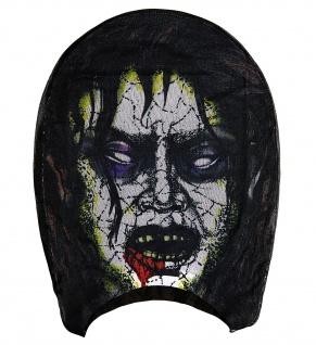 Monster Grusel Maske, Stoff Maske hauchdünn, Gesichtsmaske Halloween - Vorschau 3