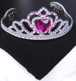 Diadem, Krone silber pink, Kinder, Prinzessin, Fee 610