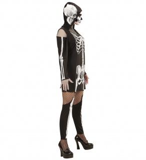 Skelettkleid, Kostüm mit Kapuze + Leggings - Vorschau 3