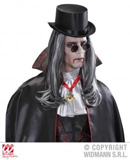Perücke wie ECHTHAAR Herren, Vampir, grau-schwarz M9 - Vorschau 3