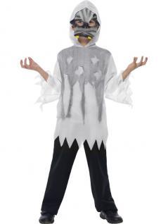 Knochen Monster Skelett Kostüm + Maske Kinder 4-6 Jahre, Halloween
