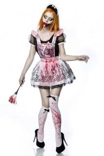 Horror Zombie Zimmermädchen Putzfrau Komplettset Kostüm Halloween Damen