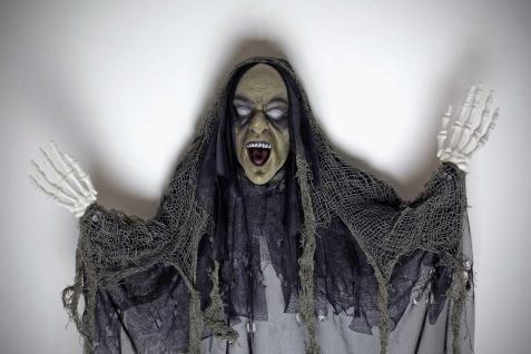 Tod, Skelett Figur Deko Hängefigur schaurig schwarz 85x70 Halloween - Vorschau 3