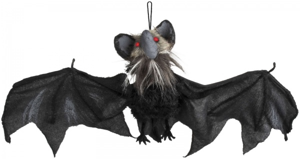 Fledermaus hängend Deko LED Sound leuchtet bewegt sich 45x80 Halloween