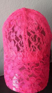 NEON pink Base Cap Kappe Mütze Damen und größere Kinder aus Spitze - Vorschau 2
