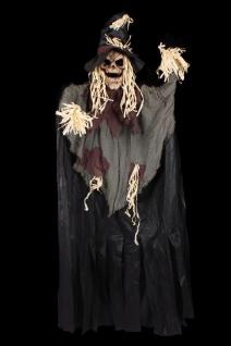 Figur Vogelscheuche mehrfarbig ca 2, 00 x 0, 90 Halloween Deko Grusel Hängefigur