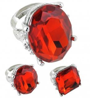 Jumbo Luxus Ring, ROT ---eckig