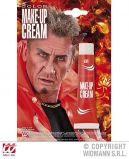Teufel Make up Creme Tube, ROT Teufel Indianer 28g Karneval Halloween 4019