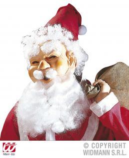 Nikolaus, Weihnachtsmann Maske Set m. Mütze, Bart, Haare, Augenbrauen 1514