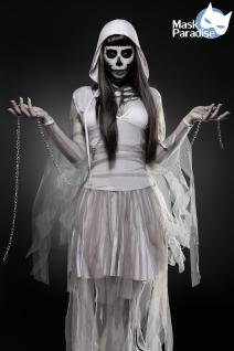 Skeleton Ghost Geist Grusel grau Komplettset Kostüm Halloween Damen