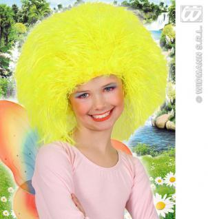Perücke Struwel Neon GELB, Märchen, Fee, Clown, Karneval Kinder