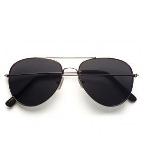 Piloten Gangster Polizei Brille unisex, getönte Gläser, silber Rahmen
