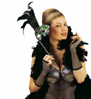 Fingerlose Netzhandschuhe, Stulpen SCHWARZ Karneval