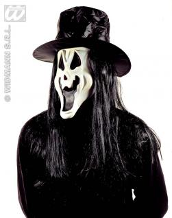 Scream Geist Maske + Hut + Haare, Grusel, Halloween , Horror - Vorschau 2
