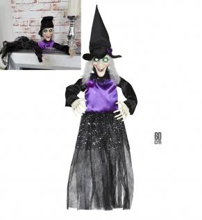Hexe, Figur, Puppe Halloween Deko Party Grusel Hängefigur 60 cm