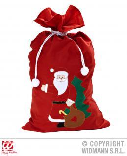 Weihnachtssack, Nikolaussack Filz Applikation Weihnachtsmann 60 x100
