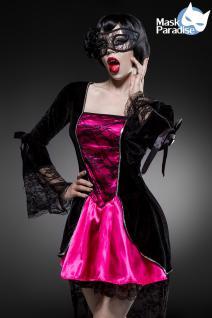 Gothic Vampire Kostüm Komplettset Kleid Maske Damen - Vorschau 3
