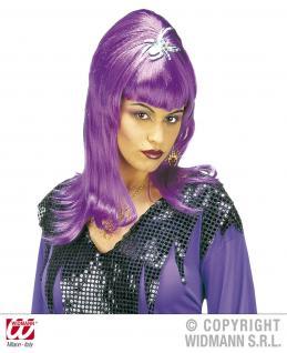 Perücke Damen Spinne Vampir Hexe lila Halloween Karneval