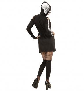 Skelettkleid, Kostüm mit Kapuze + Leggings - Vorschau 2