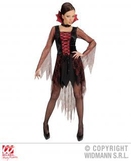 Vampira Vampir Kostüm, Damen ---M=38-40