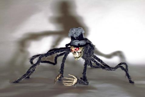 Riesen Spinne Kopfspinne leuchtende Augen 70x70 Deko Halloween