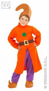 Zwergen Kostüm Gnom Wichtel komplett, Kinder, Gr 110 Karneval