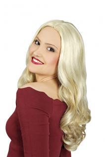 Damen Langhaar Perücke blond gesträhnt, Locken, wie ECHTHAAR schwer entflammbar