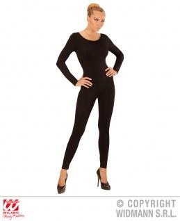 Einteiler, Body, Overall Jumpsuit lang, Sport schwarz, Damen, S-M-L-XL