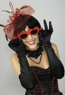 Rote Herz Amor Brille mit Pfeil, Damen Gag Valentinstag Junggesellinnenabschied - Vorschau 1