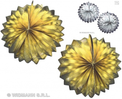 2 Lampion, Laterne RUND ---GOLD