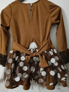 Reh Kostüm Rehkitz Bambi Tüll Rock braun Karneval Fasching Mädchen 116 - Vorschau 2