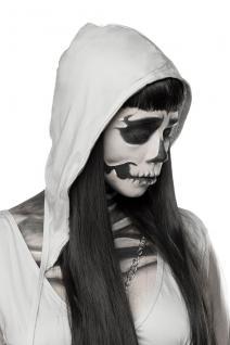 Skeleton Ghost Geist Grusel grau Komplettset Kostüm Halloween Damen - Vorschau 4