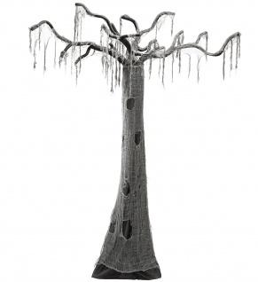 Halloween Grusel Baum verhext Hänge Deko grau schwarz 280 cm