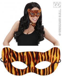 Augenmaske TIGER Katze Maske, weiches Material, Karneval, Motto
