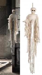 Deko Figur Mumie Mummy, z. hängen, Halloween ca 100 cm lang
