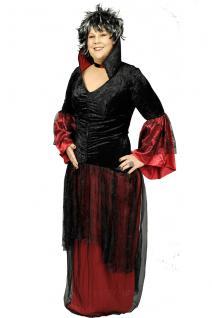 2 tlg Vampir Hexen Spinnen Gothic rot schwarz Kostüm mit Halsband 48-50 - Vorschau 5