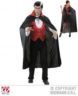 Umhang schwarz mit rotem Satin Kragen, Herren, Damen
