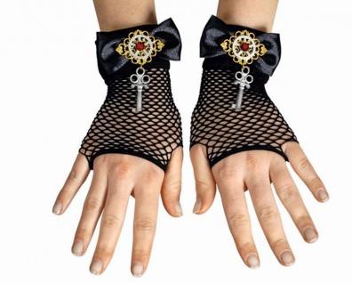 50e0a6e6a769dc Steampunk Netz Handschuhe Fingerlos Gothic, Punk, Rave Schlüssel Damen
