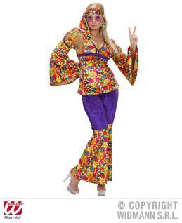 70er Woodstock Hippie Kostüm 3tlg. Damen S -36-38, M -38-40, L -40-42, XL 42-44 - Vorschau 2
