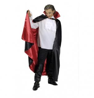 Teufel Vampir Umhang Band Kragen schwarz rot Herren 130 Halloween doppellagig