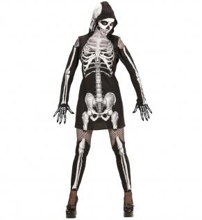 Skelettkleid, Kostüm mit Kapuze + Leggings - Vorschau 4